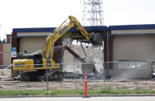 The Public Works Building is demolished on July 11, 2018, in Woodbury. Hannah Black / RiverTown Multimedia