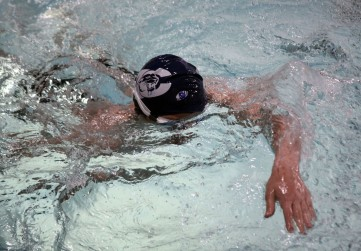 An Academia Cotopaxi swimmer warms up before the St. Croix Swim Club TYR May Invite on May 4, 2019, in St. Paul. Hannah Black / RiverTown Multimedia